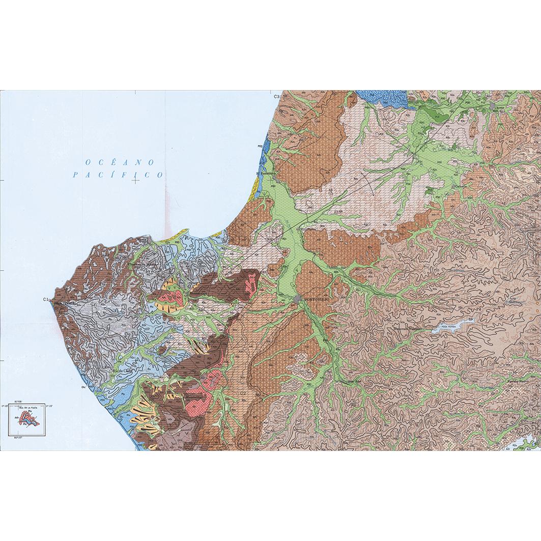 Portoviejo : carta geomorfologica