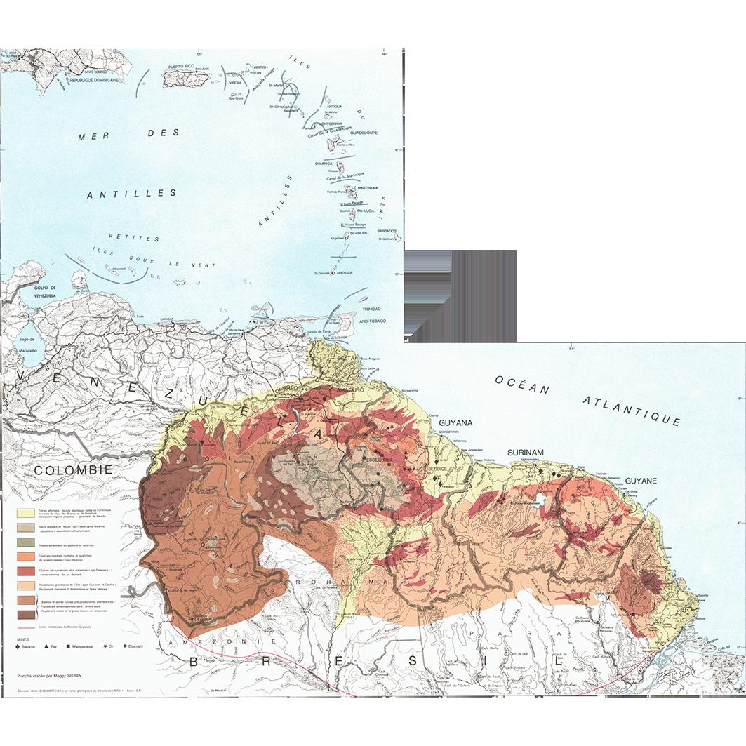 La Guyane : planche 2 : la région des Guyanes
