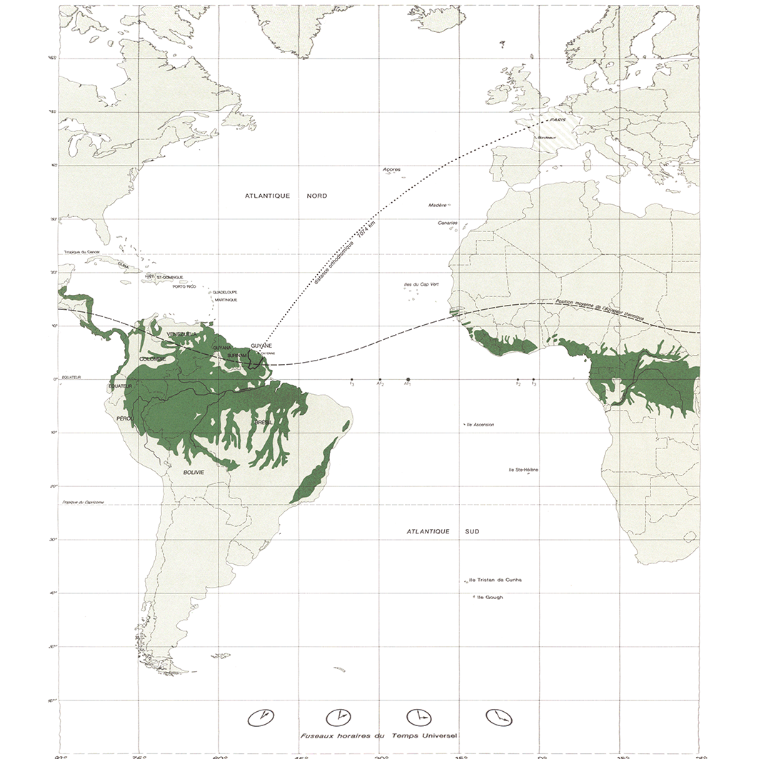 La Guyane : planche 1 : situation