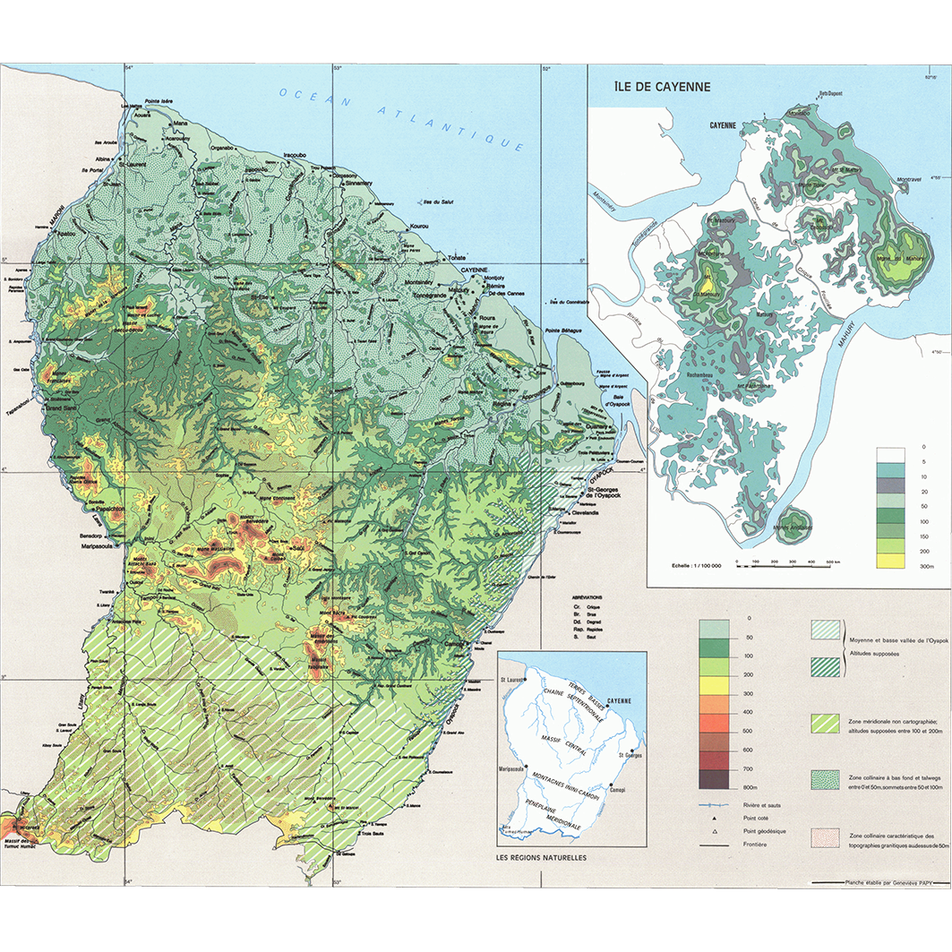 La Guyane : planche 3 : relief