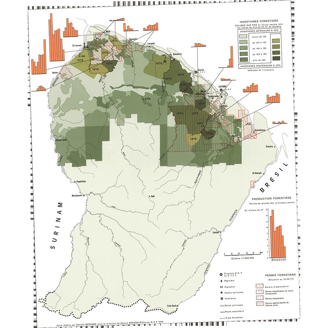 La Guyane : planche 25 : exploitation forestière