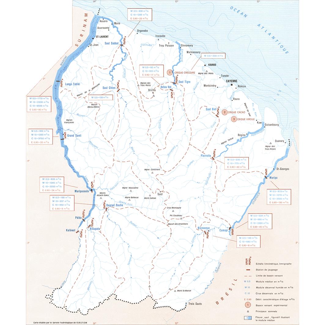 La Guyane : planche 9 : hydrologie