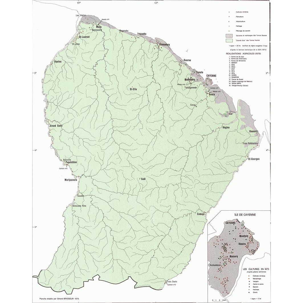 La Guyane : planche 23 : utilisation du sol
