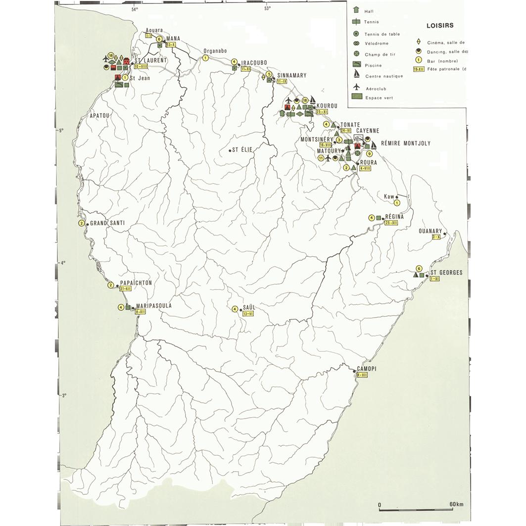 La Guyane : planche 32 : sports et loisirs, cultes : sports, culture et loisirs