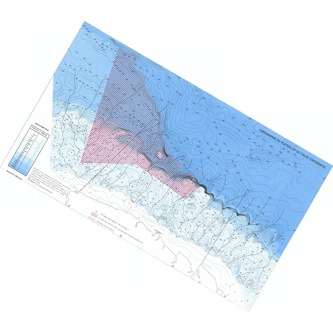 La Guyane : planche 14 : milieu marin : topographie du plateau et du talus continental