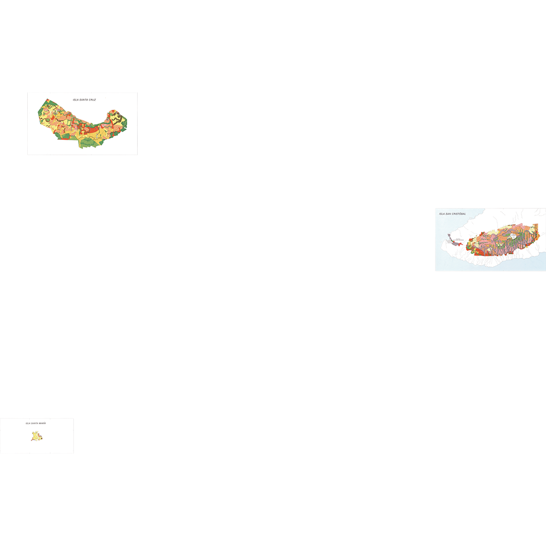 Islas Galapagos : zonas agricolas (Santa Maria - Santa Cruz - San Cristobal) : mapa de aptitudes agricolas