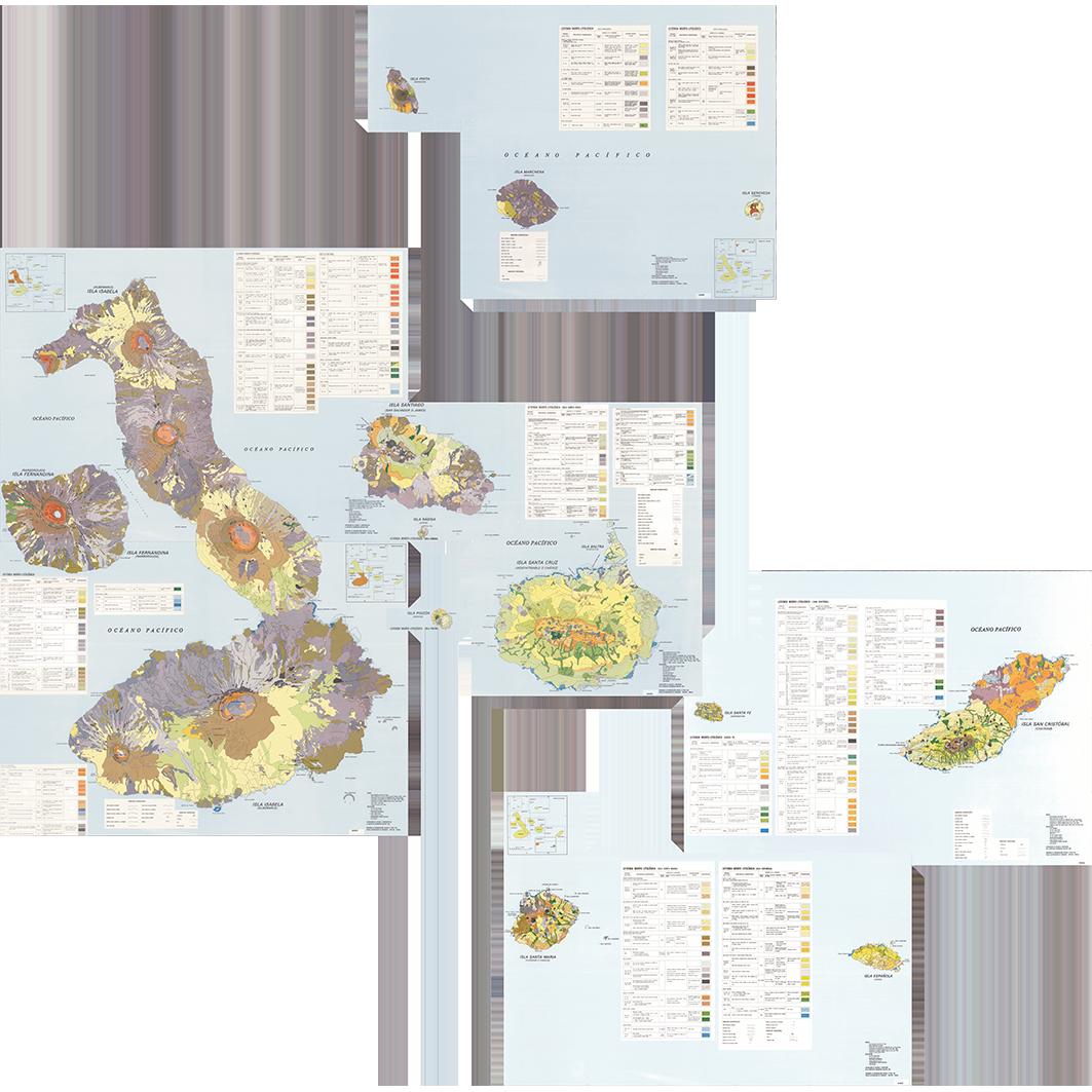 Islas Galapagos : mapa geomorfológico